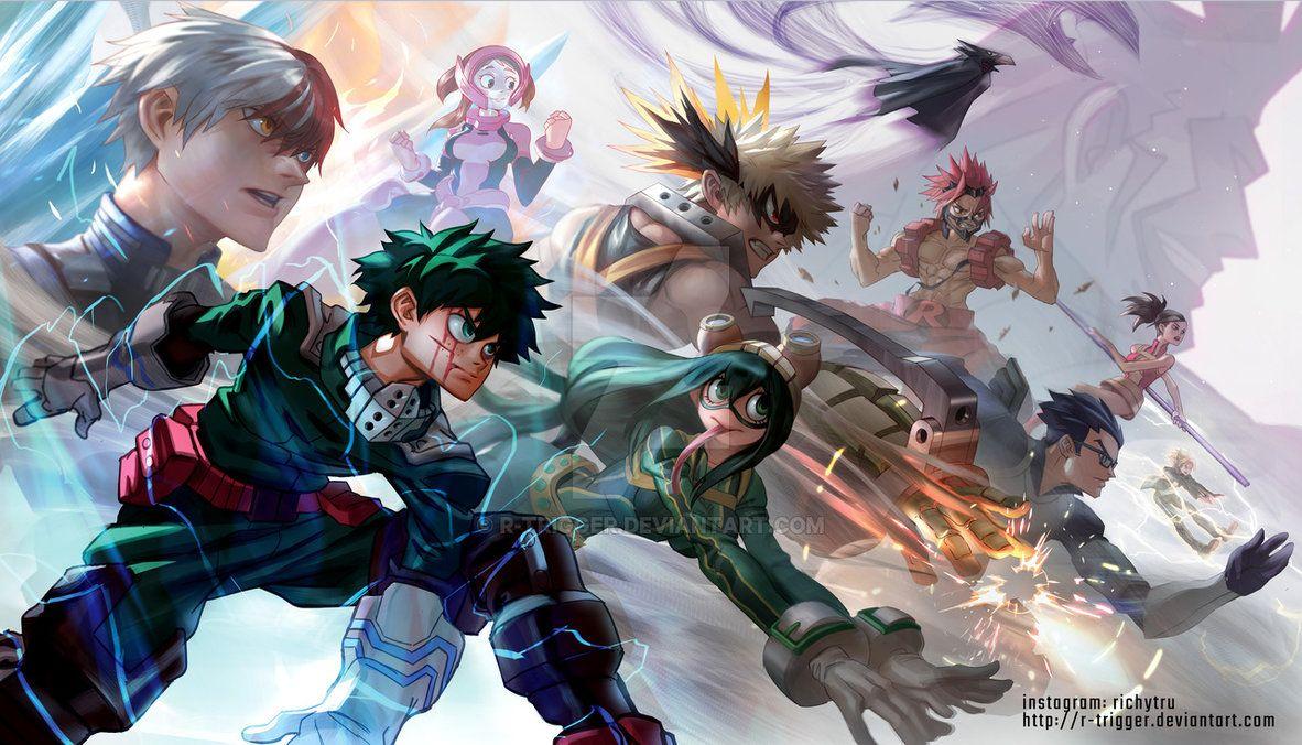 My Hero Academia By R Trigger My Hero Anime Hero Wallpaper