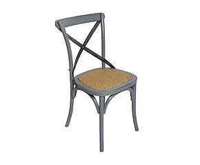 Chaise bois et métal, gris et naturel – L50 - prix 219€