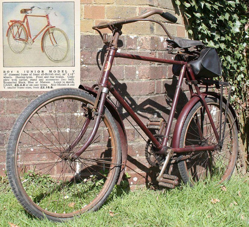 1934 Hercules Boy S Junior Model V Bicycle Vintage Bikes Bikes For Sale