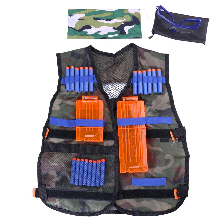 Fody Camo Tactical Vest Kit for Nerf N Strike Elite Series Gun Game 20