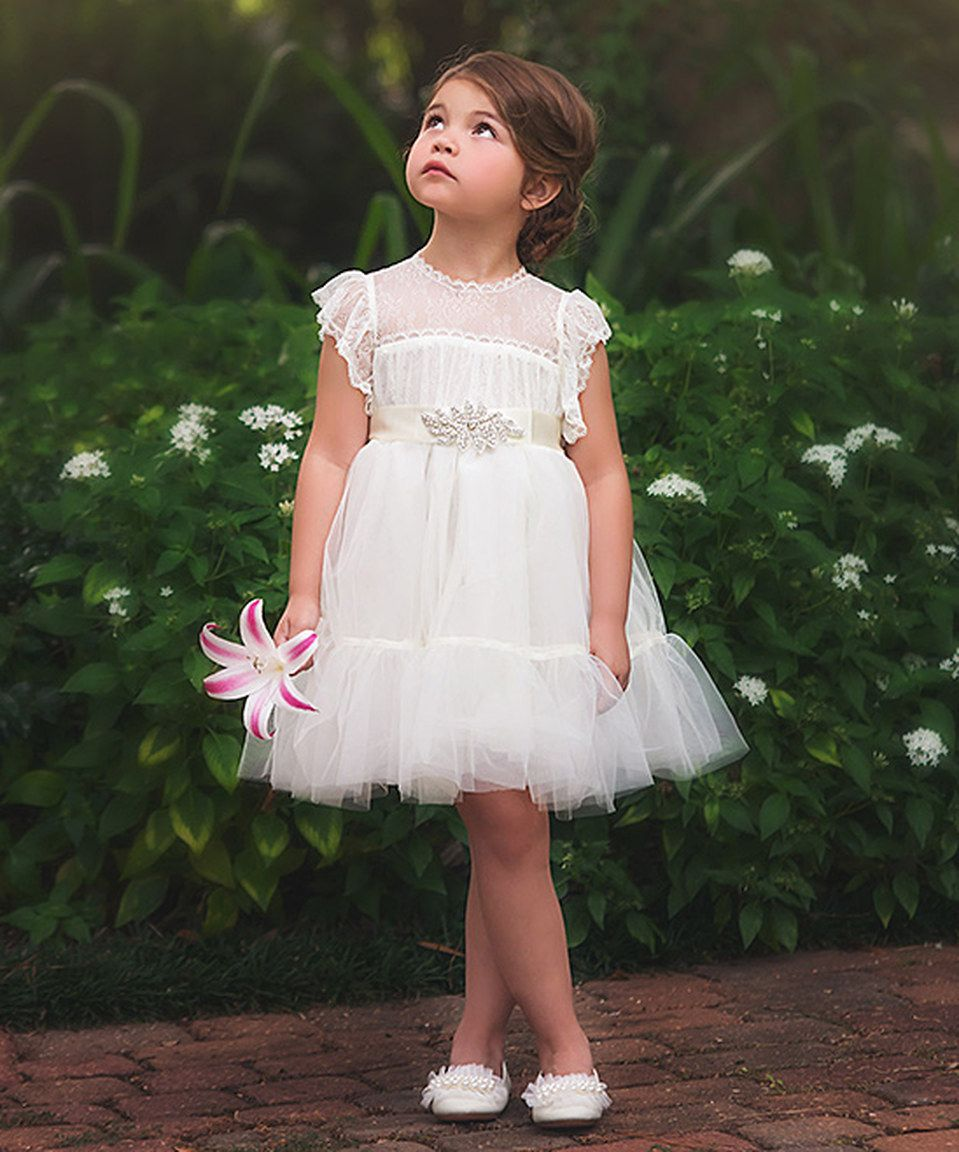 Look at this #zulilyfind! White Aura Dress - Toddler & Girls by ...