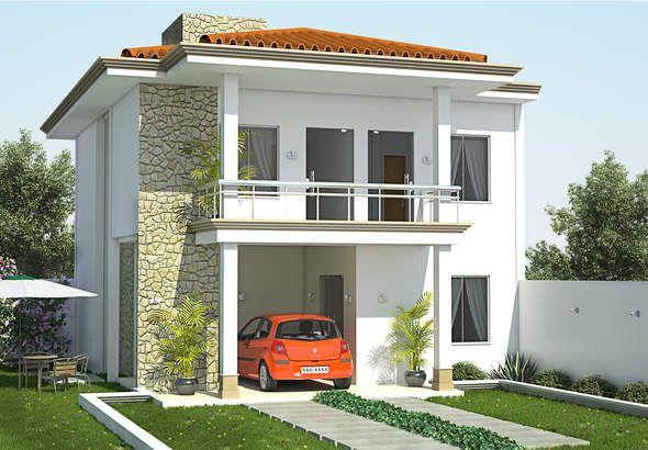 Casa moderna de dos plantas y tres dormitorios incluimos for Disenos de casas pequenas de dos plantas