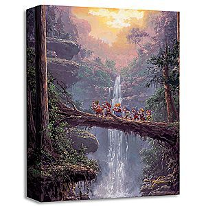 Disney The Seven Dwarfs ''Homeward Bound'' Giclée by Rodel Gonzalez | Disney StoreThe Seven Dwarfs ''Homeward Bound'' Gicl�e by Rodel Gonzalez - Doc leads the rest of the dwarfs over the river and through the woods in ''Homeward Bound,'' this gallery-wrapped gicl�e created by renowned Disney artist Rodel Gonzalez.