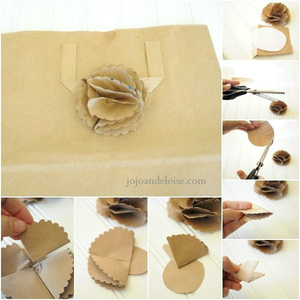 Diy 5 Paper Bag Flowers Jojo And Eloise Paper Bag Flowers