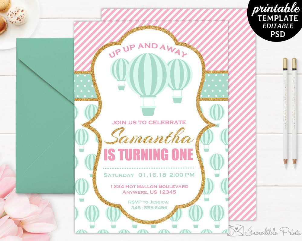 Printable Gold And Pink Th Birthday Party Invitation Template