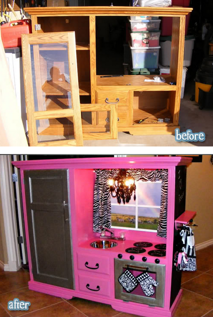 Sweet Kitchen Idea Of Course I Probably Wouldn T Do The Pink And Zebra But It Is Such A Great For Diy