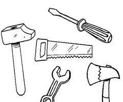 coloriage 240 200 f te des peres pinterest outils bricolage outils et p res. Black Bedroom Furniture Sets. Home Design Ideas
