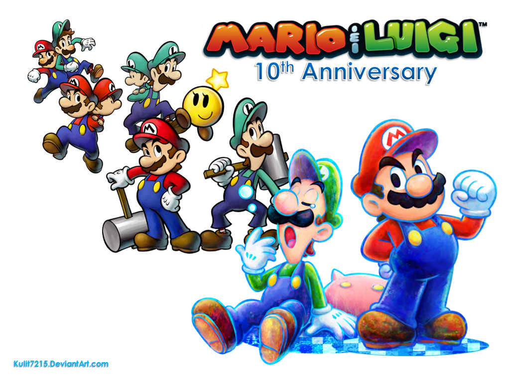 Mario and luigi 10th anniversary wallpaper by kulit7215 on mario and luigi 10th anniversary wallpaper by kulit7215 on deviantart altavistaventures Gallery