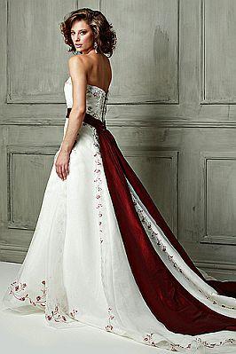 f9e6defd8a Vestidos de Novia Blanco y Rojo