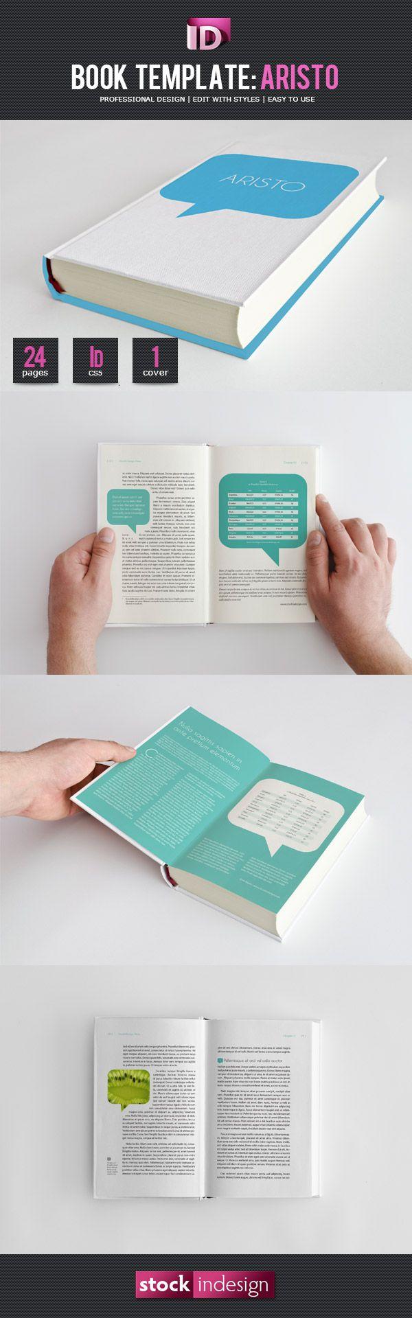 InDesign Libro Template | ARISTO gratis | mockups | Pinterest ...