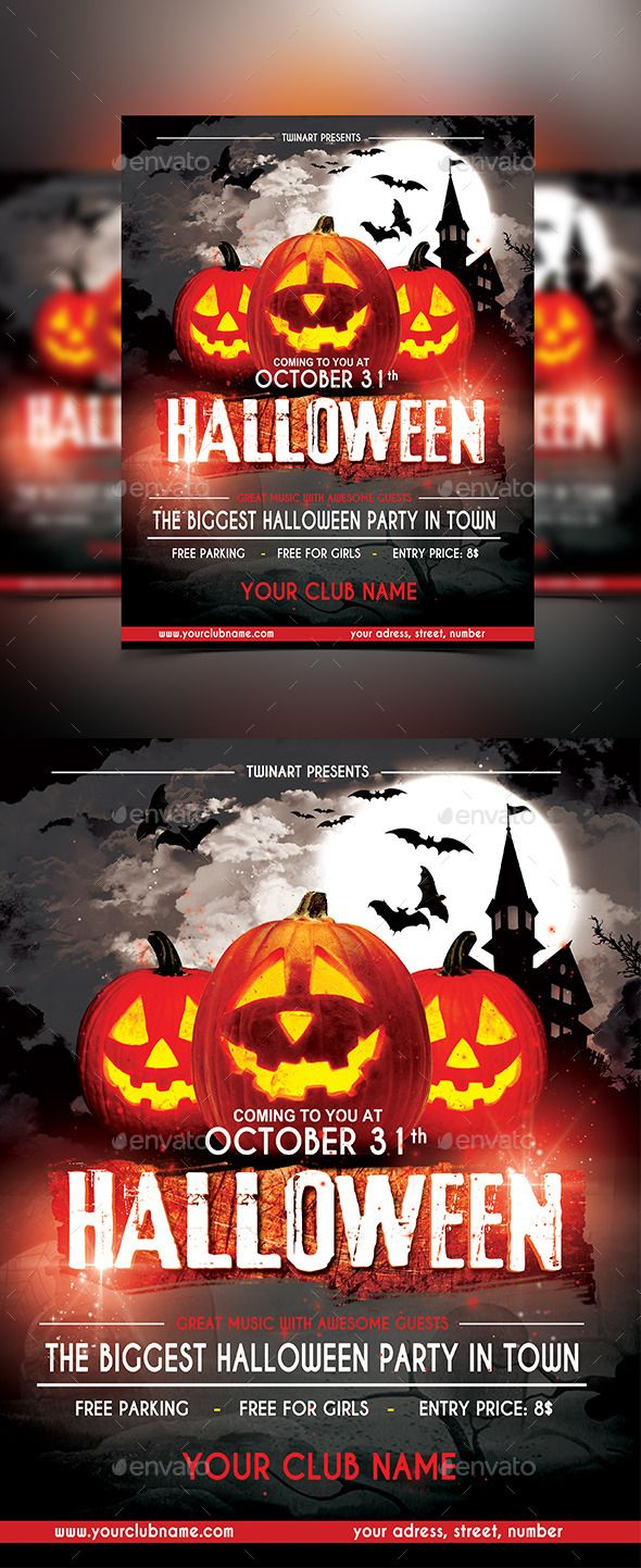 Halloween Party Flyer  Flyers Print Templates Halloween Party