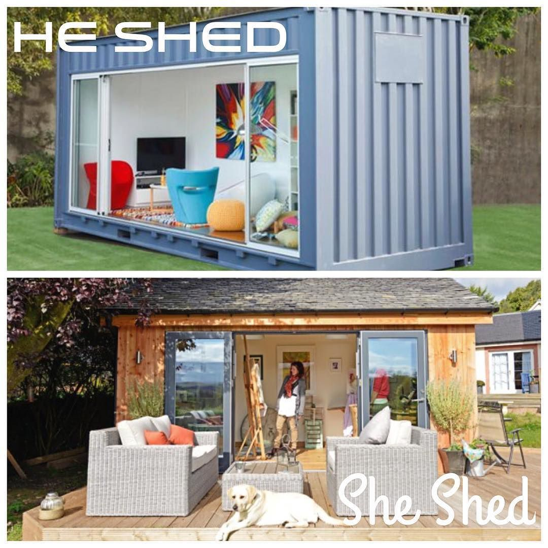 He shed she shed! Container style  We could have one ready for you in two weeks! #containerhome #casacontenedor #casacontainer #customhome #outdoors #nature #nashville #nashvillehomes #nashvillebuilder #modern #mancave #modernart #modernhome #monarchdevelopment #artdeco #architecture #prefab #homebuilder #househunters #decor #sheshed #ecoliving #eco #woods #travel #tinyhouse #thegreatoutdoors #tinyhousemovement #office #nashvillebusiness by monarchdevelopment