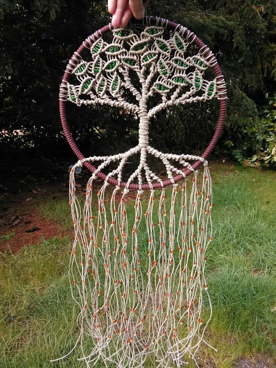 Large Tree Of Life Dreamcatcher By Evergreenbohemian On