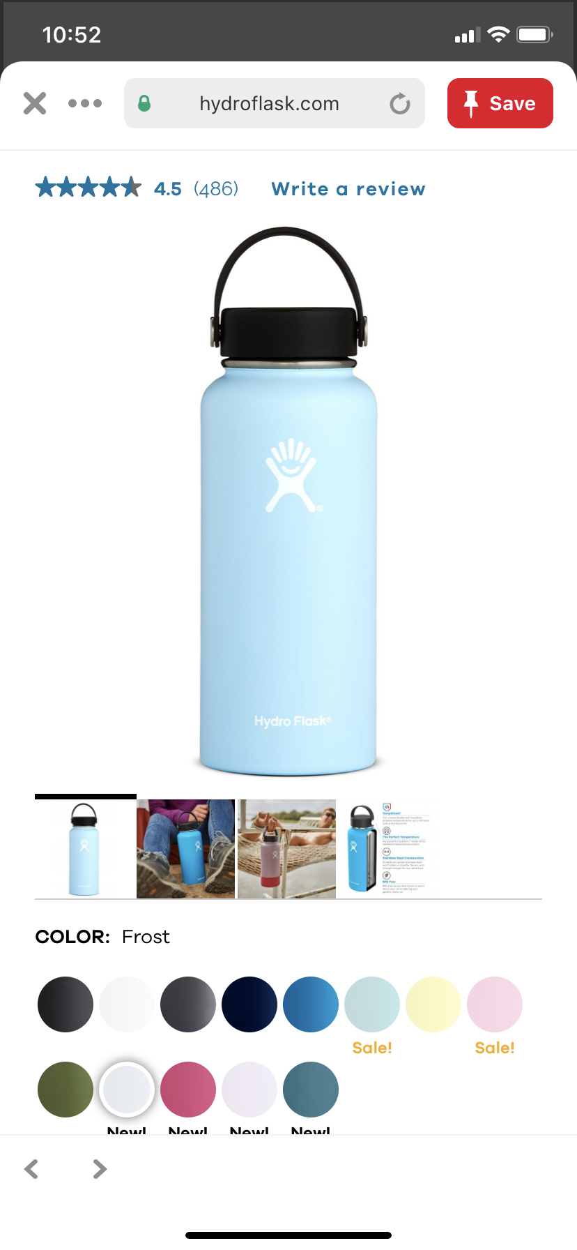 Frost Hydro Flask 32oz Hydro Flask Colors Hydro Flask Accessories Hydroflask