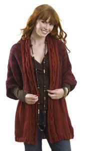 Cable Front Cardigan | Crafts | Knitting patterns free ...