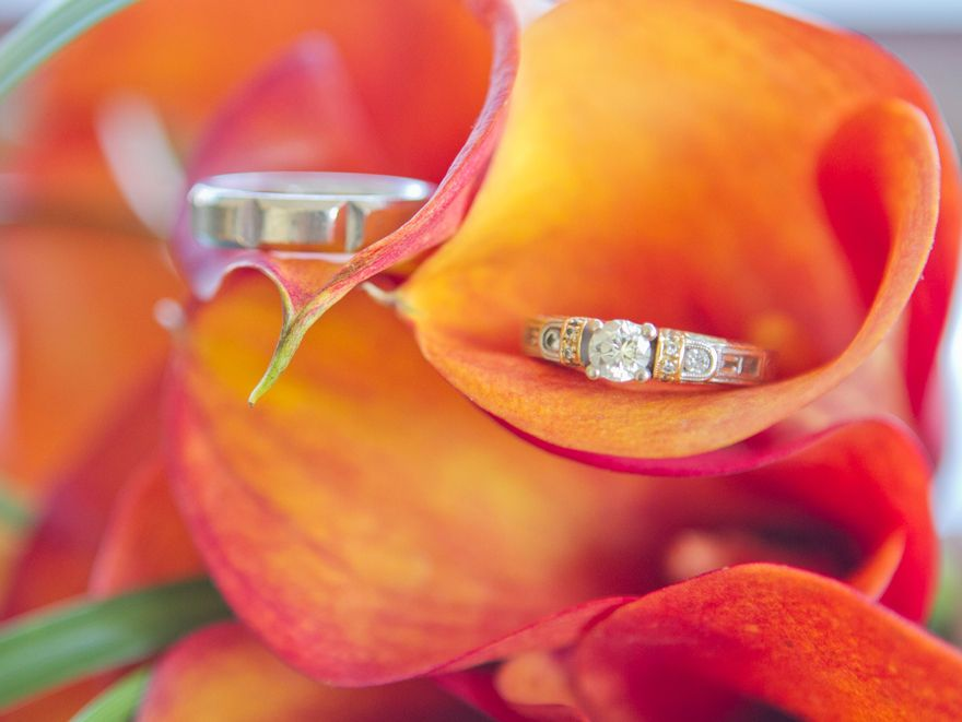 A vibrant wedding ring shot Glee and Bliss Wedding and