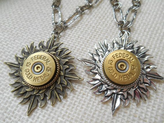Shotgun Shell Jewelry 12 Gauge Federal Gold Medal Sunburst