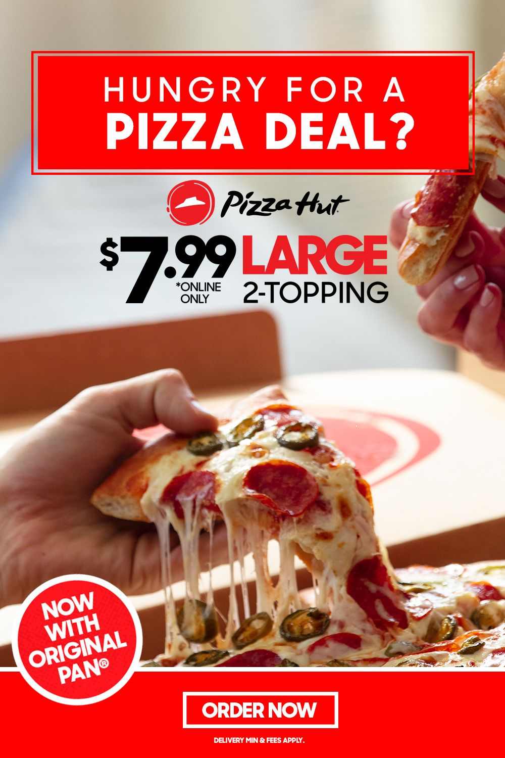 Limited Time Only 7 99 Large 2 Topping Now With Original Pan