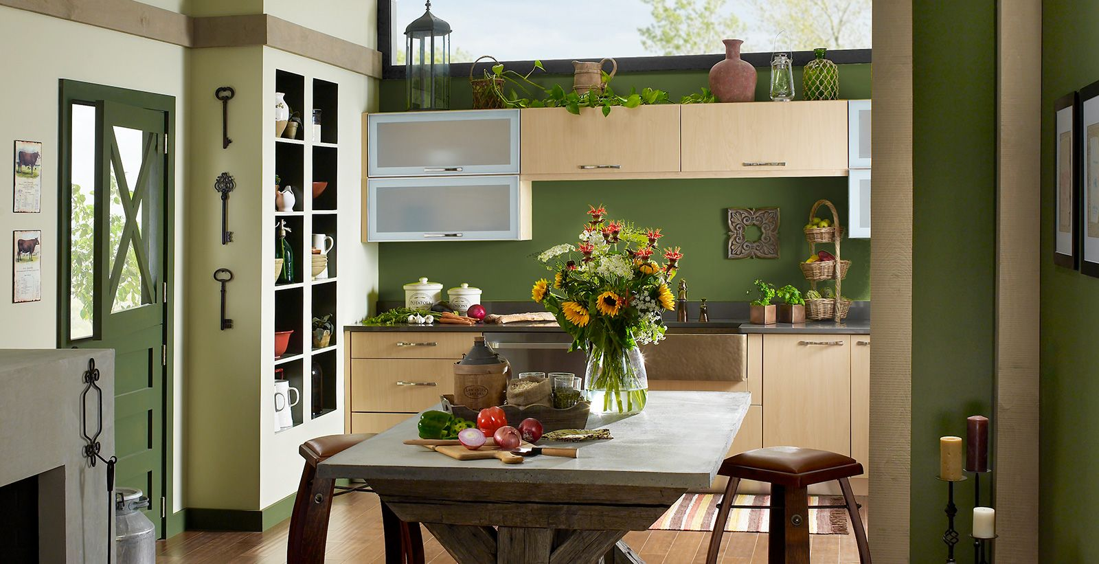 Casual Kitchen Style Ideas and Inspirational Paint Colors ...