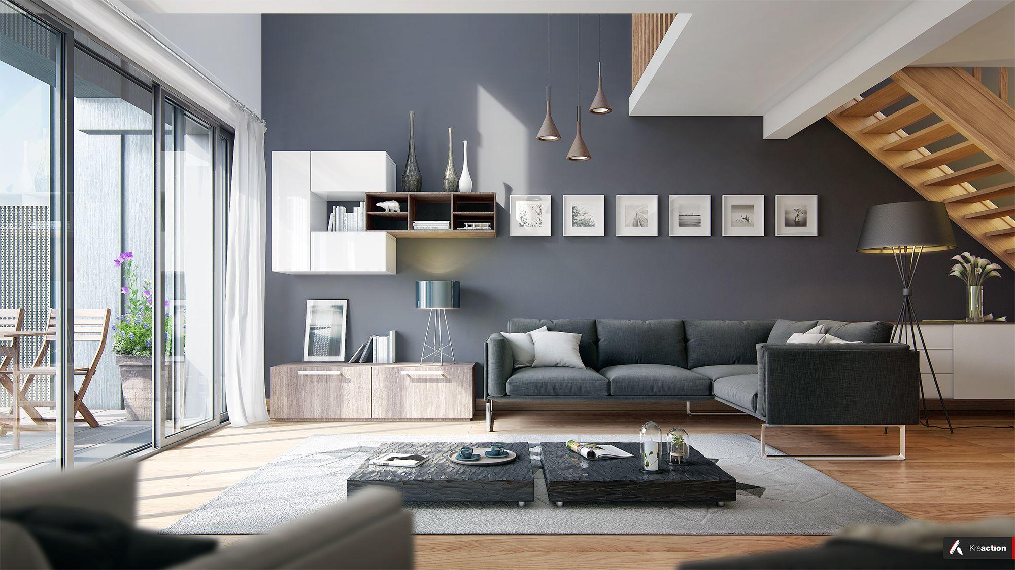 Idee Peinture Interieur Salon  Les Gerard