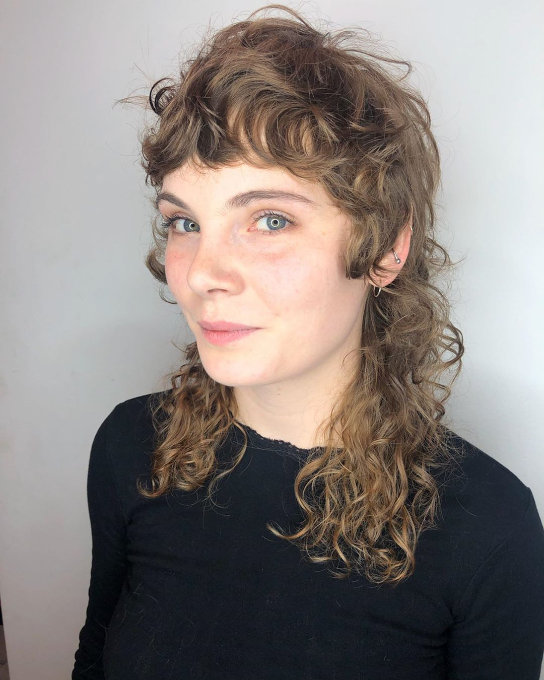 12+ Curly mullet info