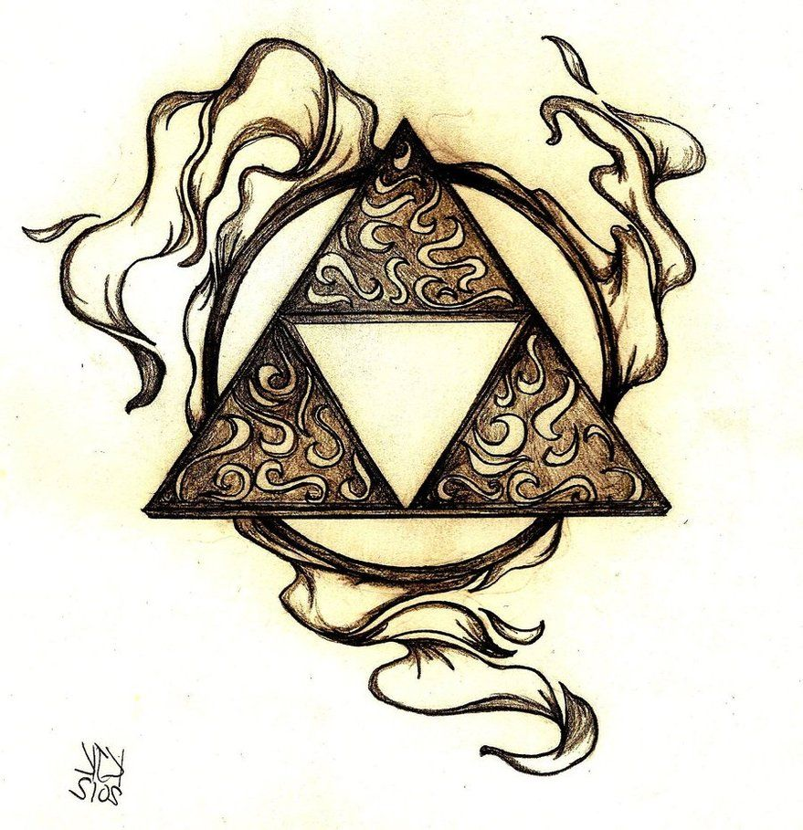 Triforce by coppertops on deviantART Zelda tattoo