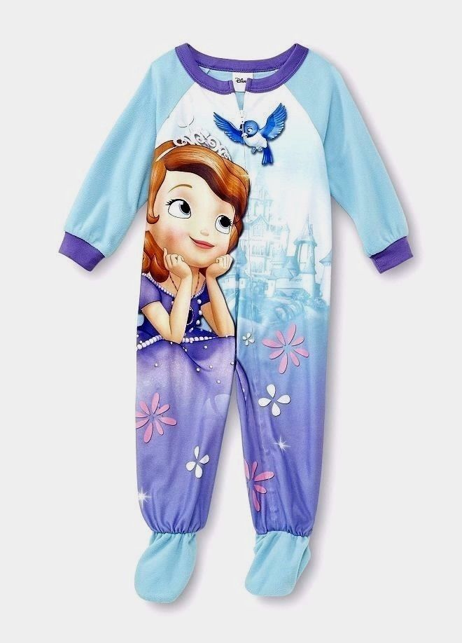 Disney SOFIA the FiRST Fleece FOOTED Pajamas NeW Girl s 5T Zip Winter  Footie Pjs  Disney  OnePiece 6e2c407e0