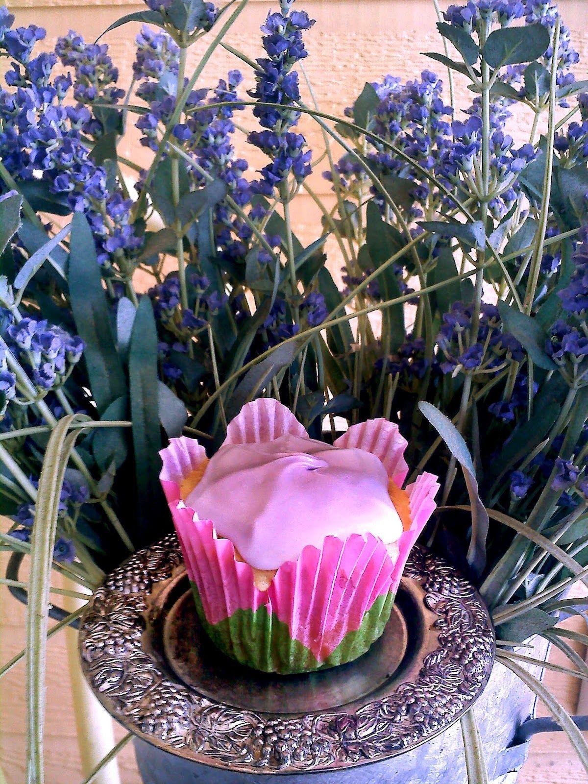Lavender Vanilla Cupcakes    Becca Bakes Cupcakes