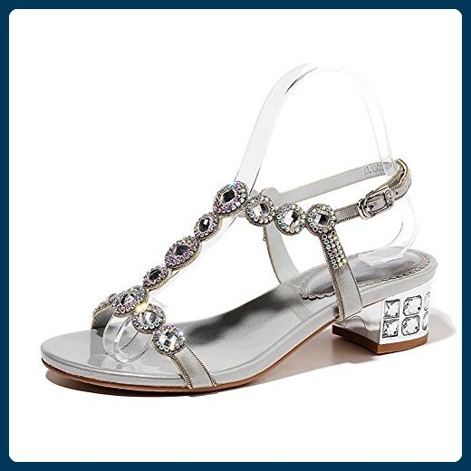 Adee , Damen Sandalen, Silber silber Größe: 39 13