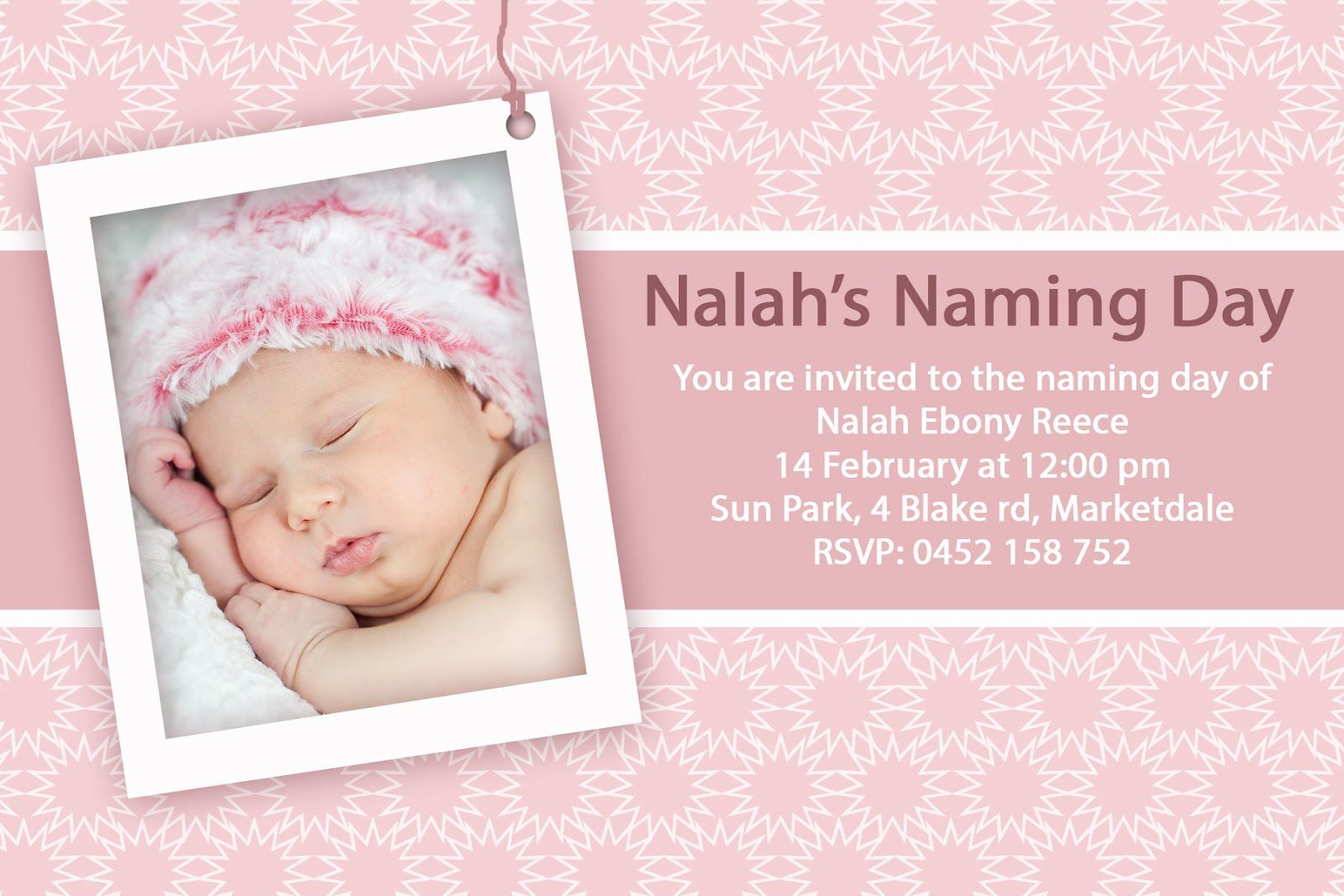 Christening Invitation Background For Baby Girl Baptism