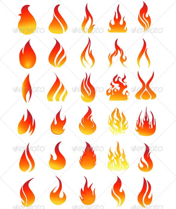 Vector Flame Collection (With Images)