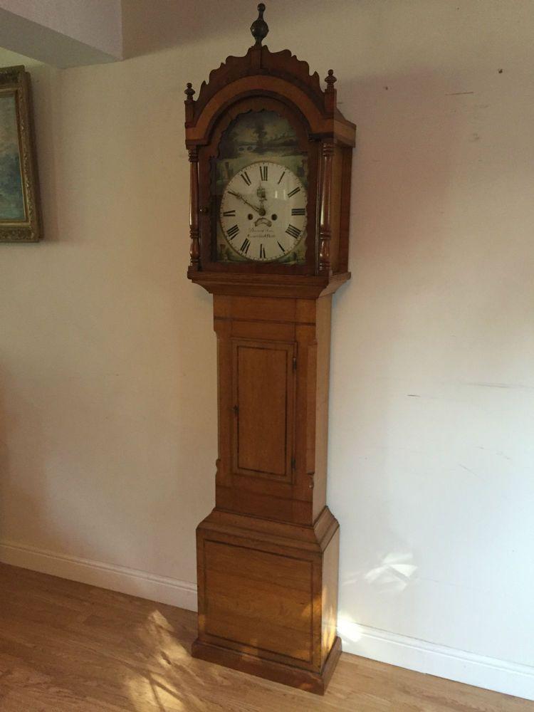 A Very Nice George Iii Oak 8 Day Longcase Grandfather Clock