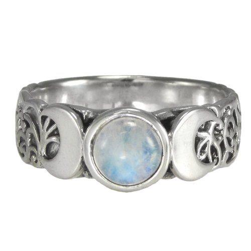 Sterling Silver Wide Filigree Pentacle Pentagram Wiccan Pagan Band Ring  sz 4-15