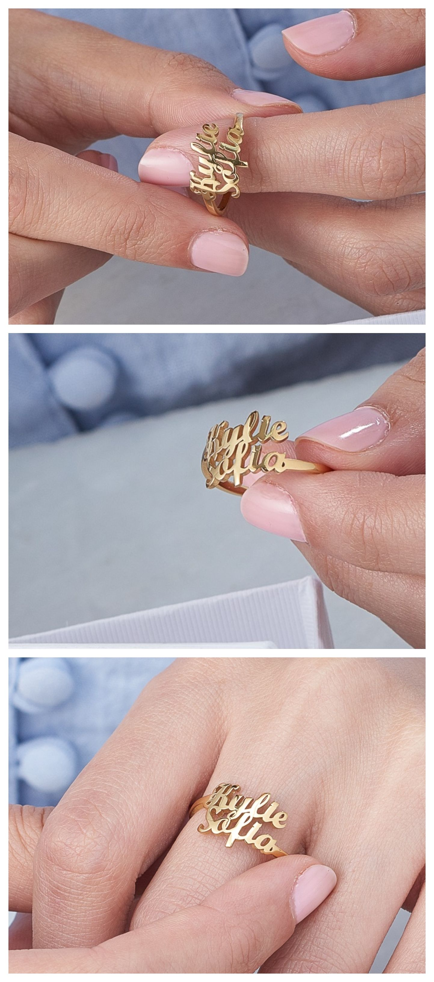 7106c45846404b Two is Better Than One Ring, Gold Plated in 2019 | Oak & Luna US ...