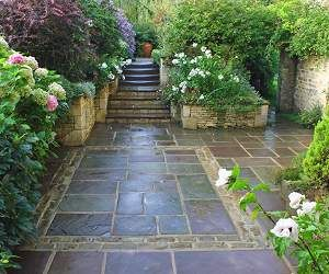 love the tile a new courtyard garden in