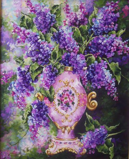 Lilacs In Vase Confie Em Si Mesmo Arte Bouquet