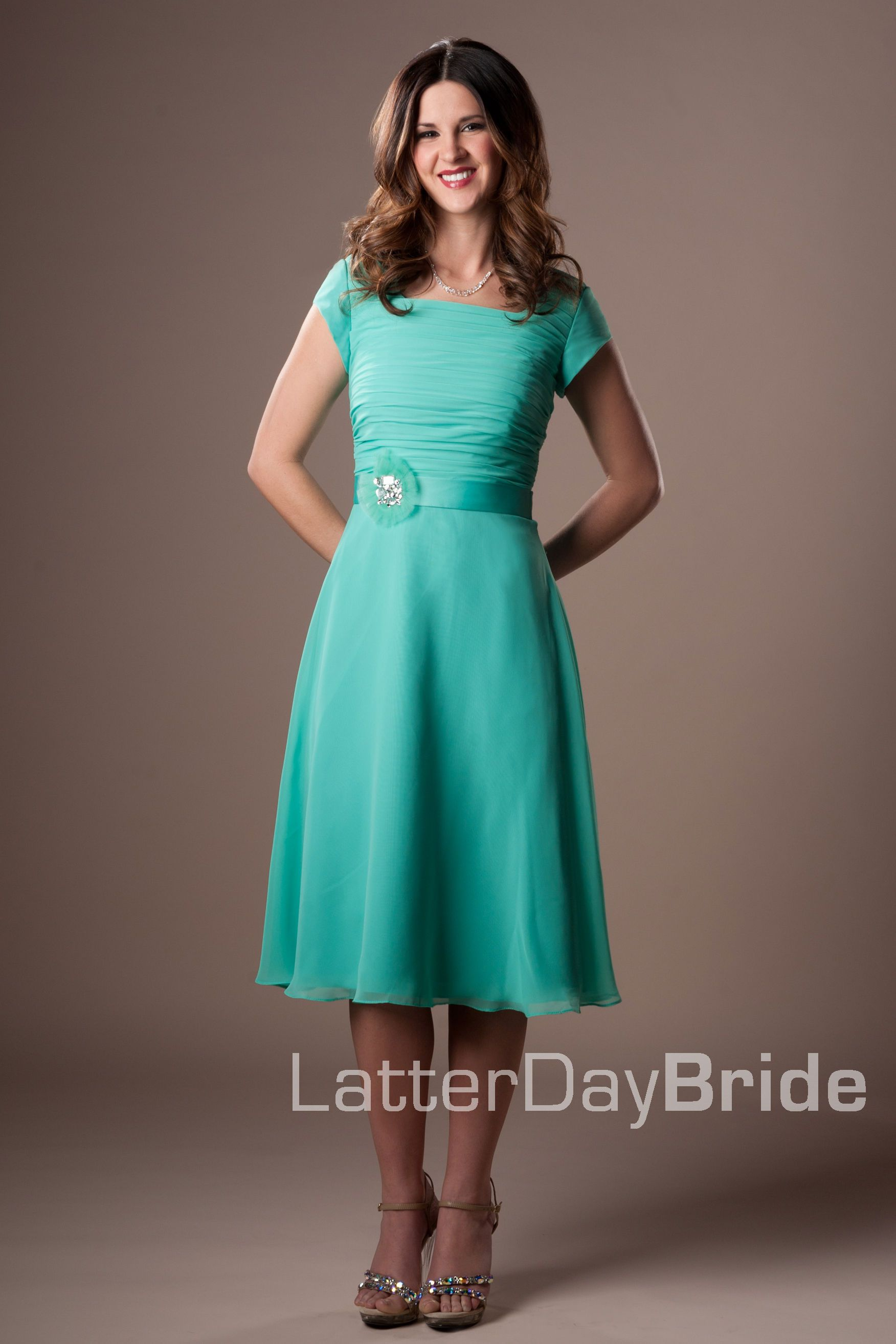LDS Cheap Modest Prom Dress
