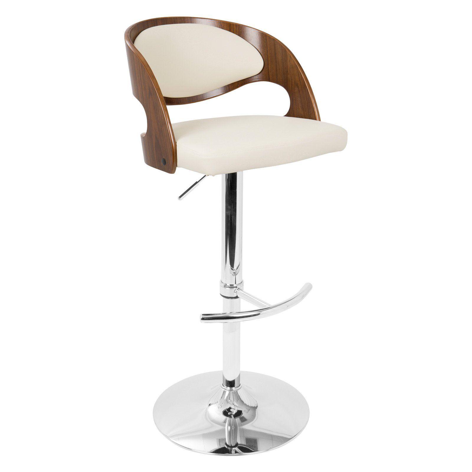 Strange Lumisource Pino Mid Century Modern Adjustable Bar Stool Machost Co Dining Chair Design Ideas Machostcouk