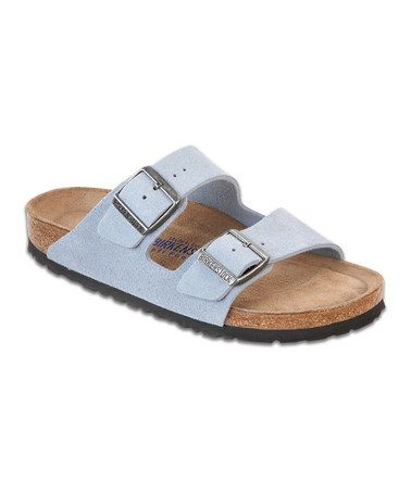 4cc8d441f41 Dream Blue Suede Birkenstock Arizonas for  62! Narrow fits more like medium.