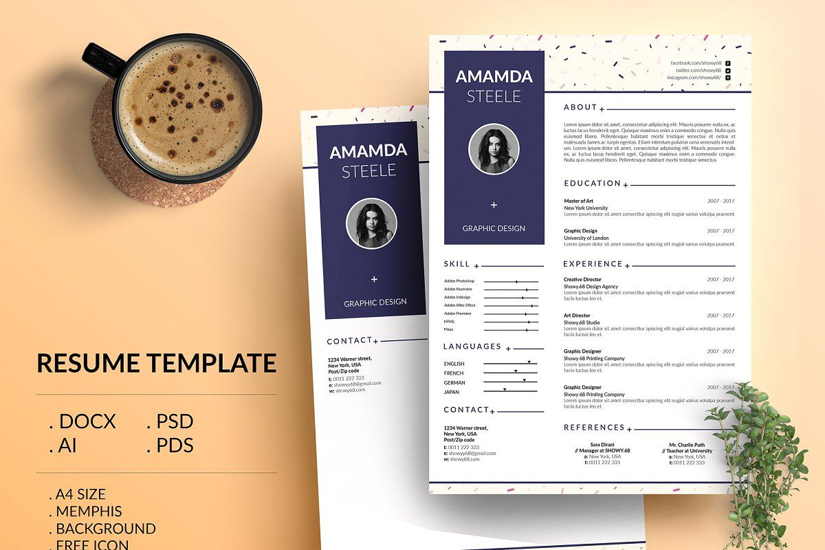 Holographic Cv Resume Template N Resume Template Cv Resume Template Resume