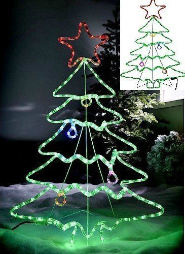 outdoor christmas rope light tree ornament garden xmas decoration 45silhouette werchristmas