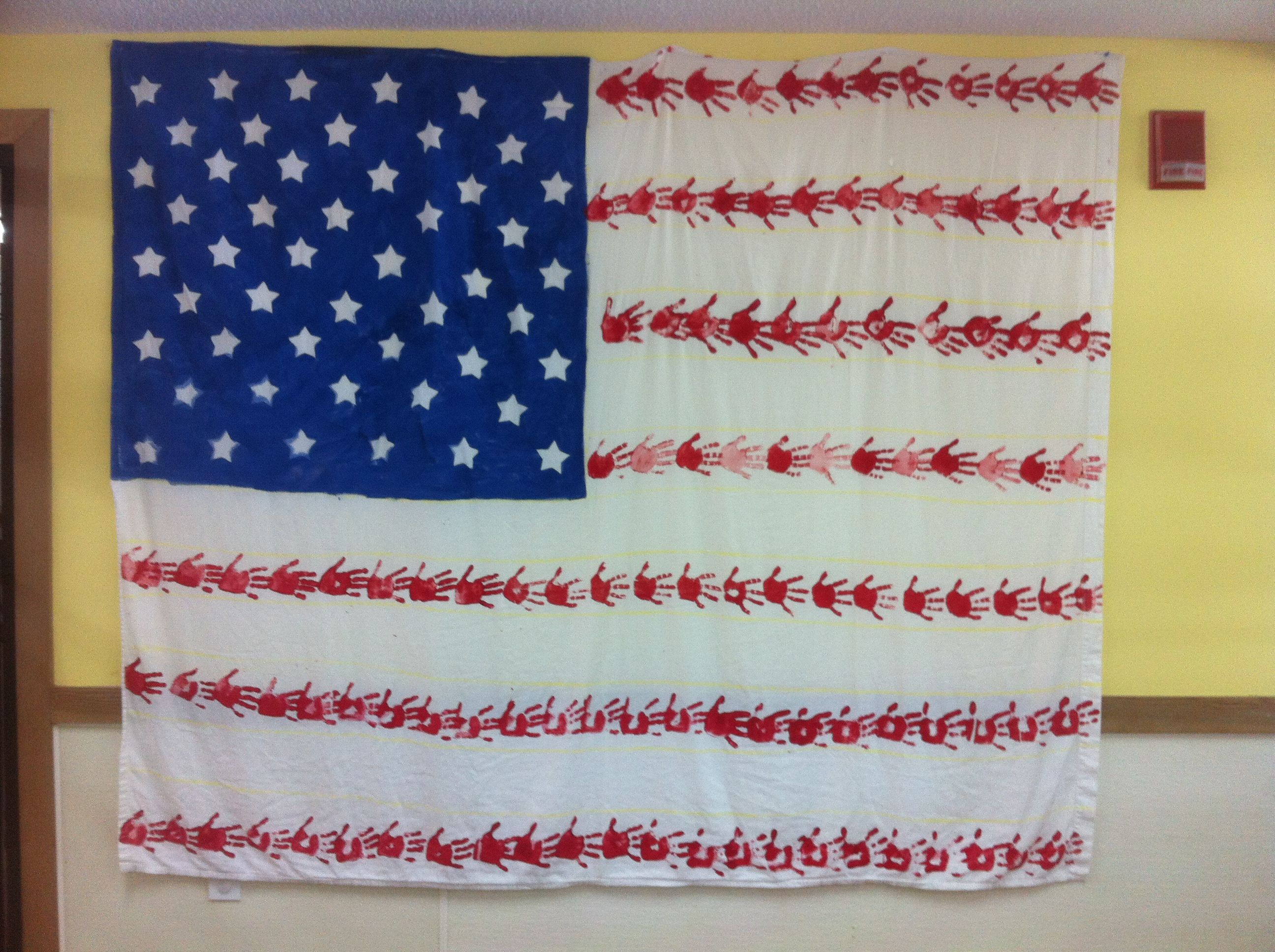 Full Size Sheet American Flag Made By Pre K Students American Flag Full Size Sheets Flag