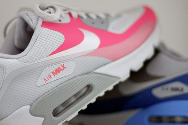 Womens Nike Air Max 90 EM Pink Grey White
