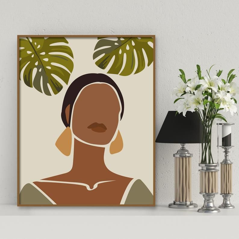 African American Women Art Afro Women Black Girl Wall Art Etsy In 2020 Small Canvas Art Girls Wall Art Etsy Wall Art