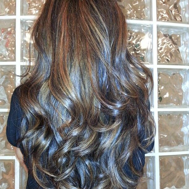 Dark Brown Hair With Highlights Blue Hair Highlights Blue Brown