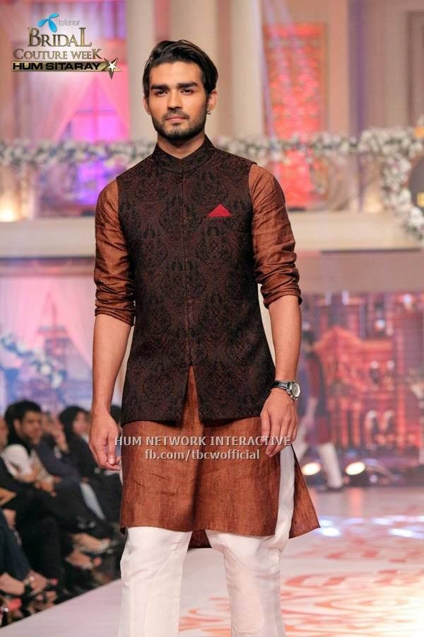 Mehndi Kurta For Mens : Mehndi kurta designs for men in brown color