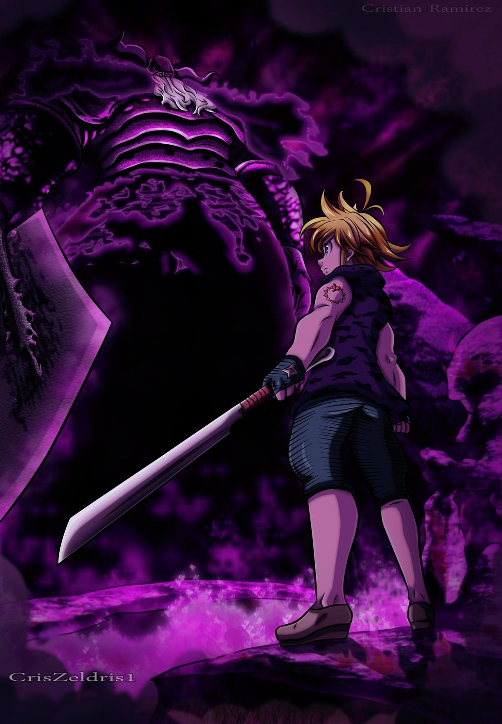 Meliodas vs  Demon King -NNT by CrisZeldris1 on DeviantArt