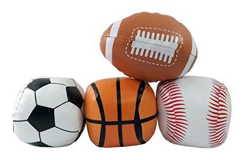 5 Mini Soft Plush Sports Balls Set For Kids Set Of 4 Football Baseball Basketball Soccer Learn More By Visiting Sports Balls Sports Games For Kids Kids Set