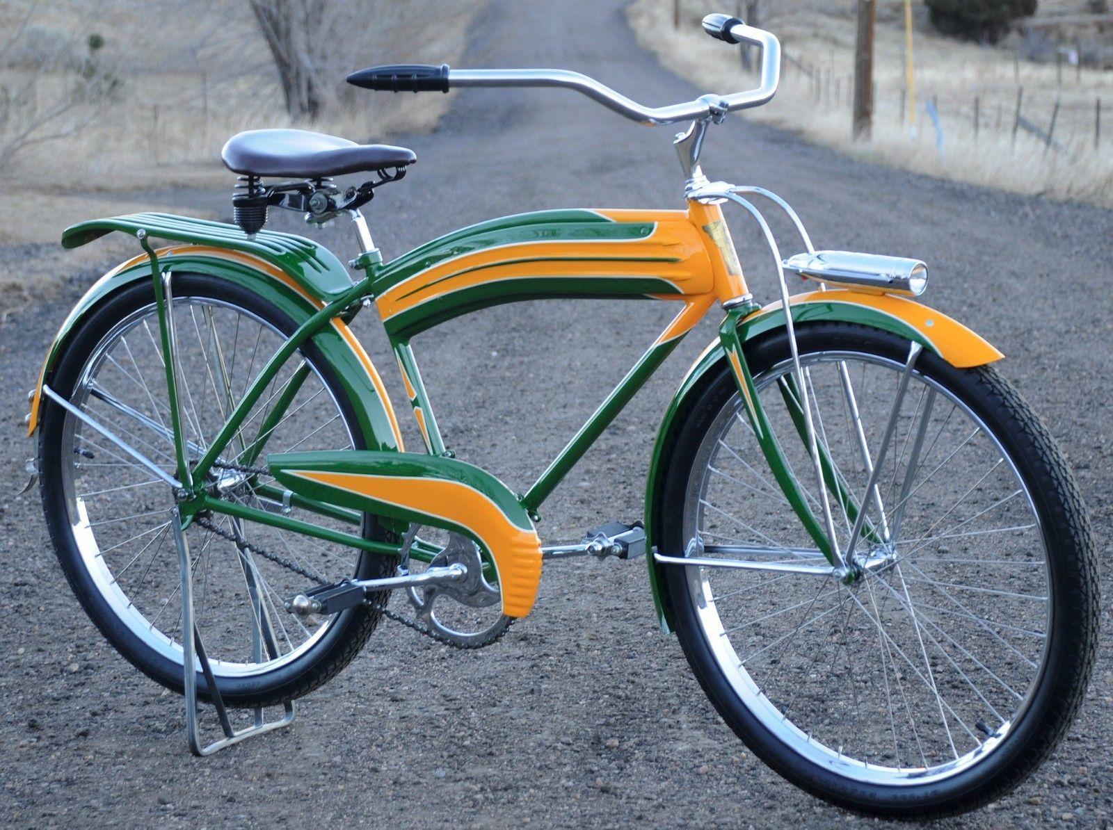 Beautiful 1940 Vintage Colson Flyer Cruiser Tank Bicycle Prewar Bike Schwinn QL