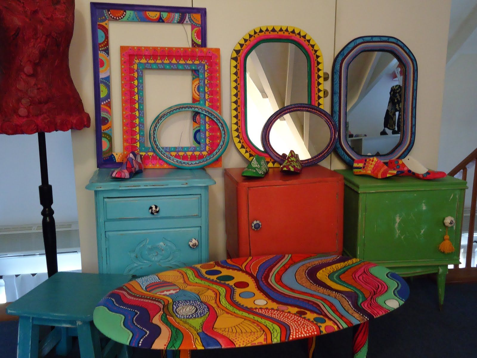 Muebles pintados en el altillo de vintouch vintouch - Armarios pintados a mano ...